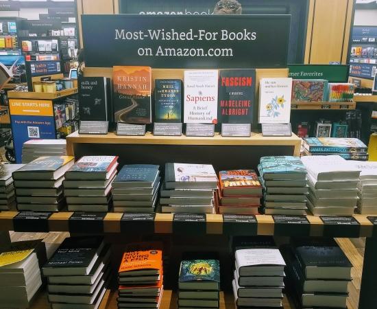 Amazon Books display